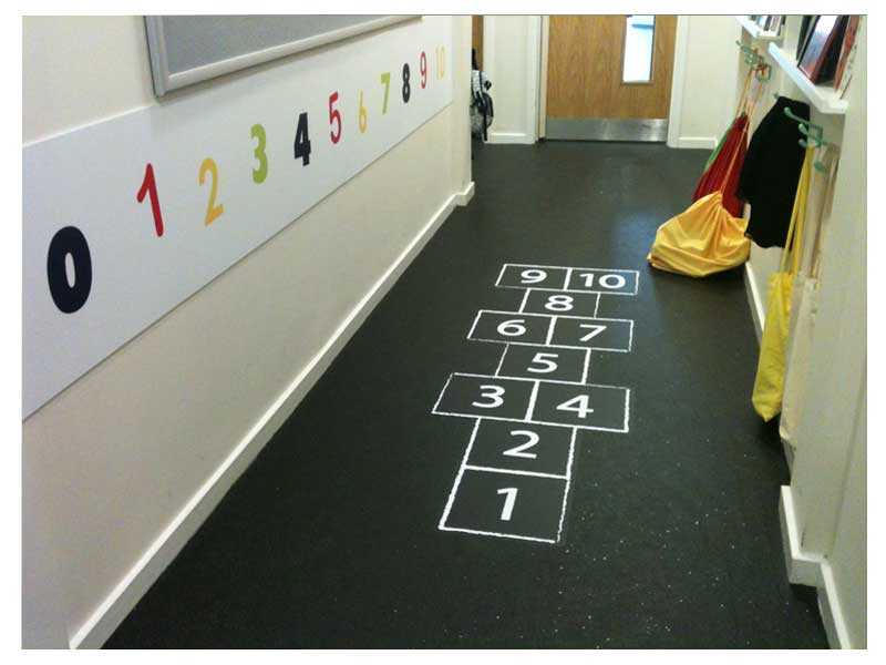 Day Care Floor Graphics Hop Scotch