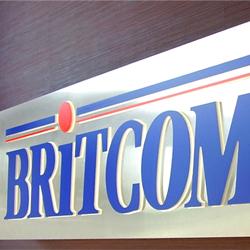 Britcom 3D Sign