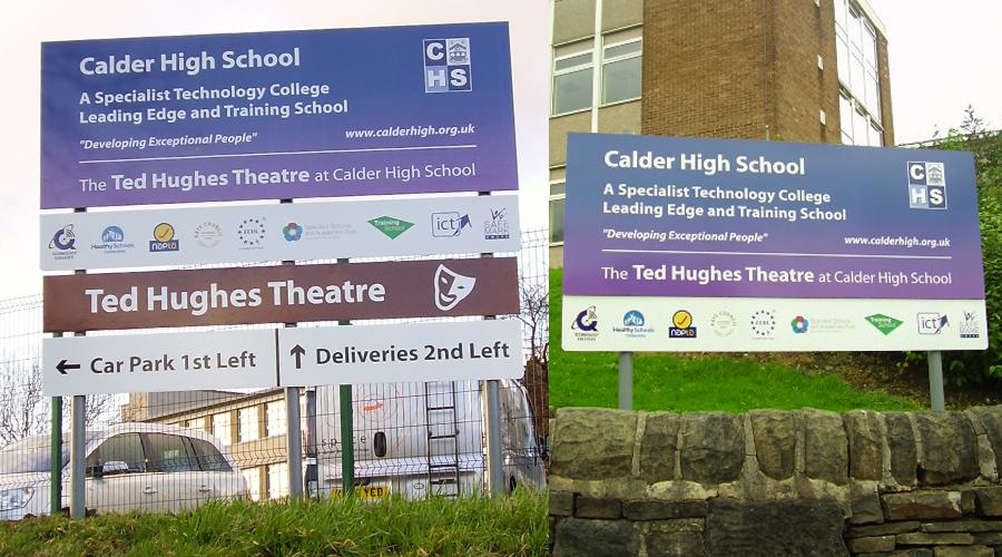 Calder School Exterior Signs