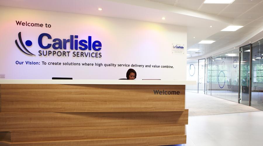 Carlisle Interior Reception Desk Signage