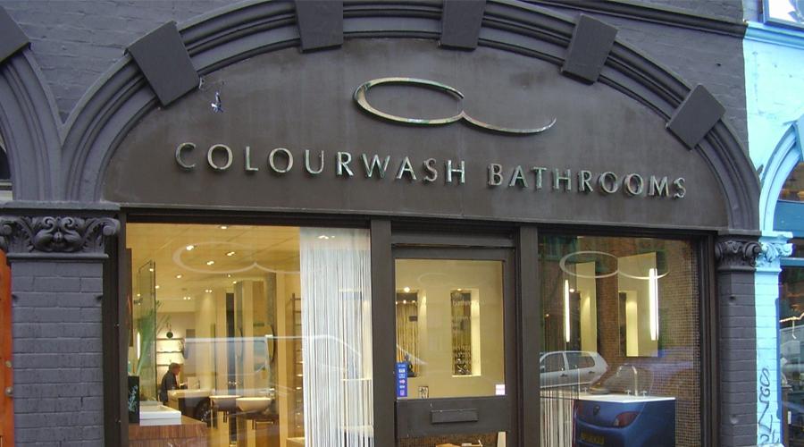 Colourwash Bathrooms Shop Sign 2