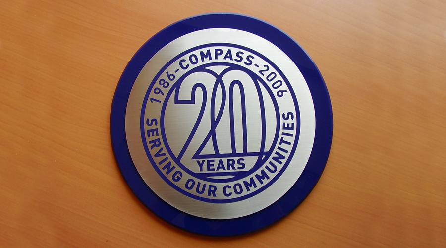 Compass Circular Plaque