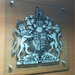 Court Crest Printed Plaque