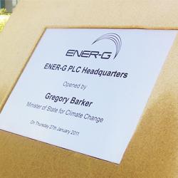 ENER-G Plaque