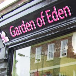 Garden Of Eden Signage