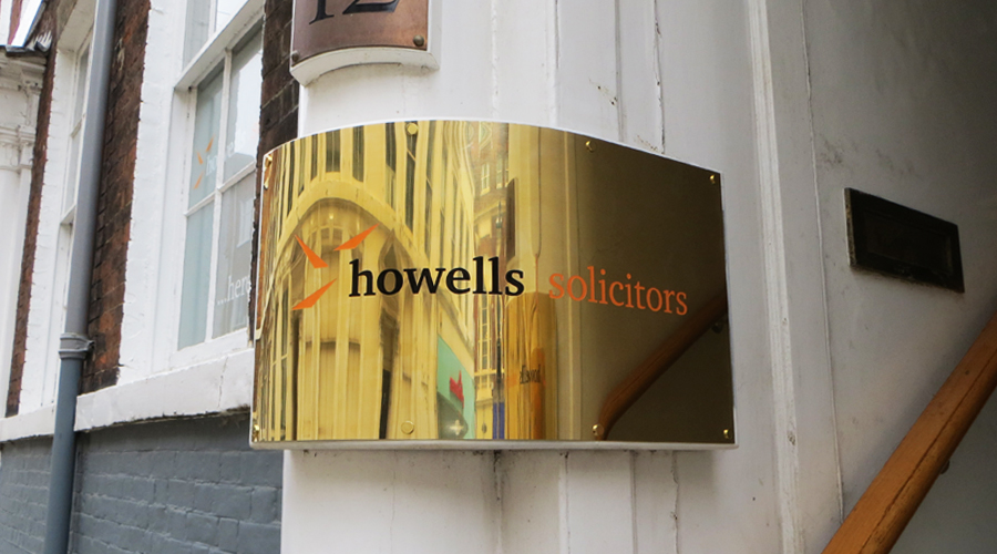 Curved Brass engraved Plaque