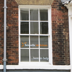 Howells Solicitors Window Graphics