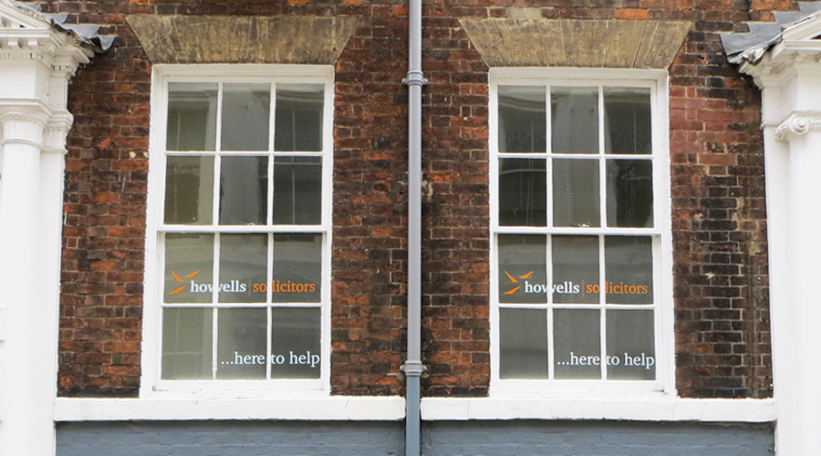 Howells Window Signage