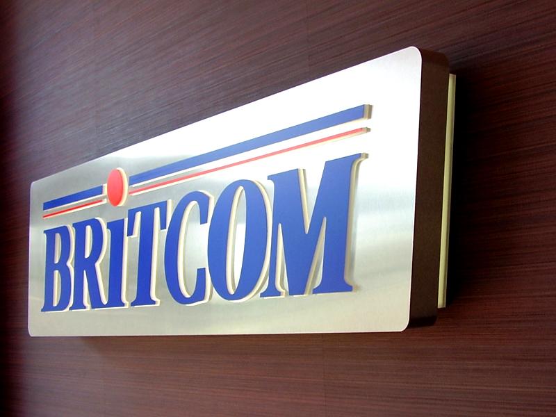 Britcom LED illuminated sign