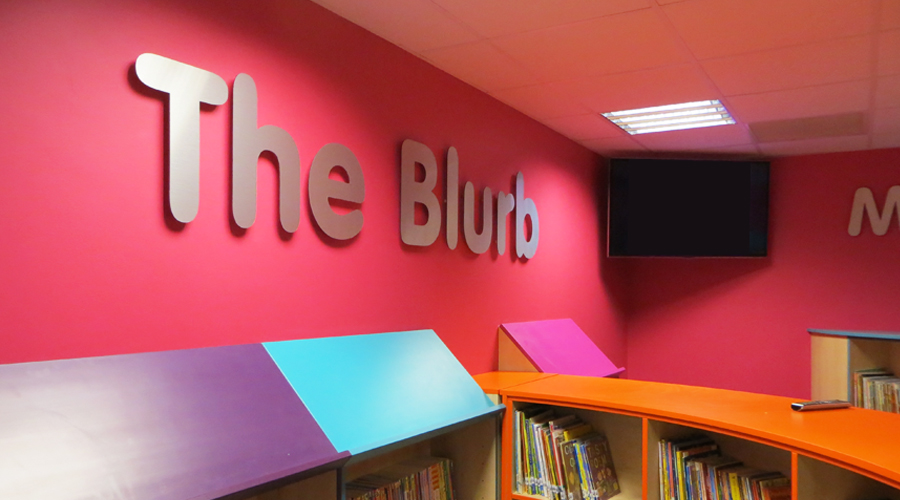 Library Indoor Lettering