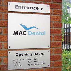 Mac Dental Plaque Sign