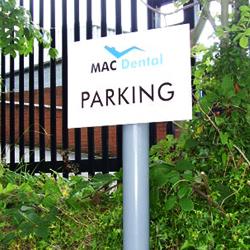 Parking Post Sign