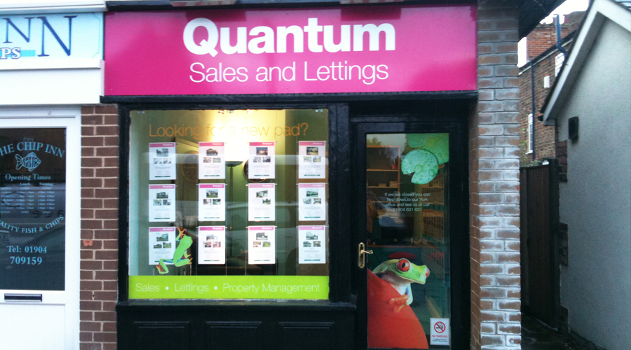 Quantum Estate Agents Shop Signage & Window Graphics