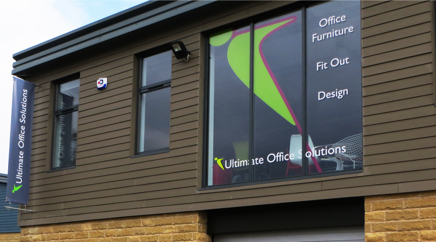Ultimate office Solutions Window Graphics