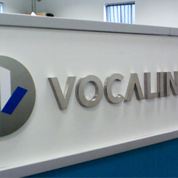 Vocalink 3D stainless steel sign