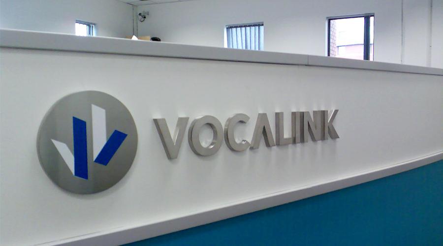 Vocalink Reception Desk Signage