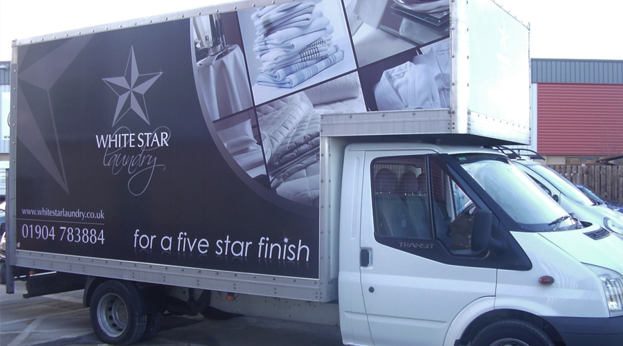 White Star Laundry Lorry Livery