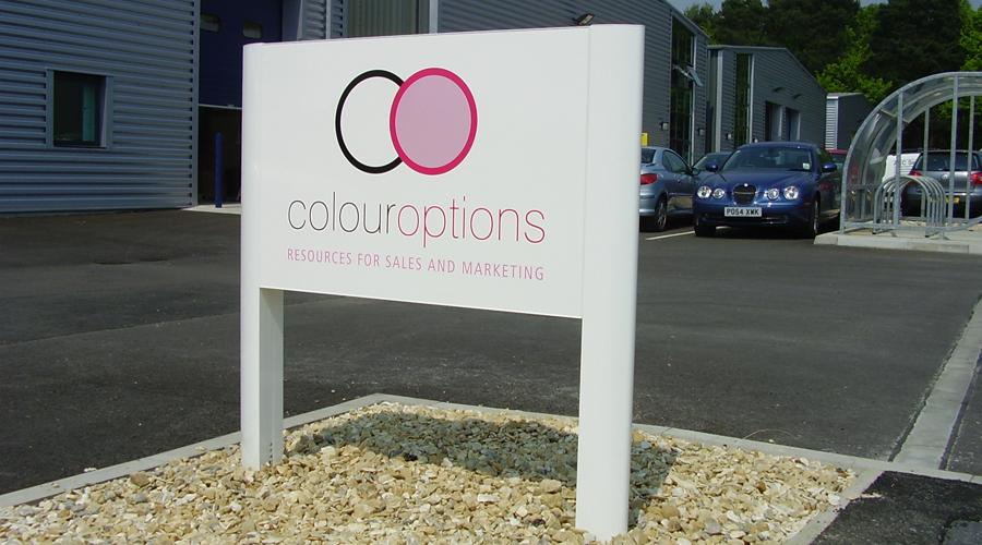 colour options sign