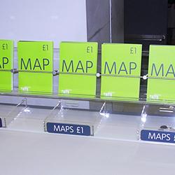 Acrylic map holder