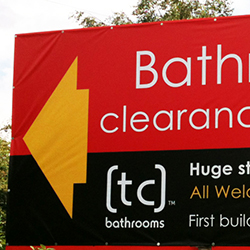 Bathroom Clearance Banner