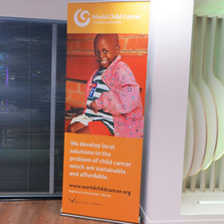 Charity Roll-up Banner