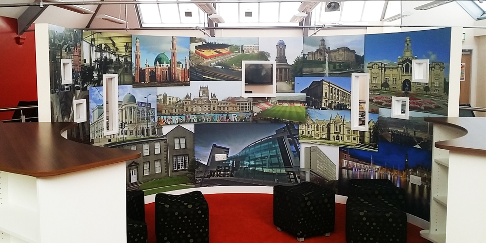 Curved Bradford Wall Mural