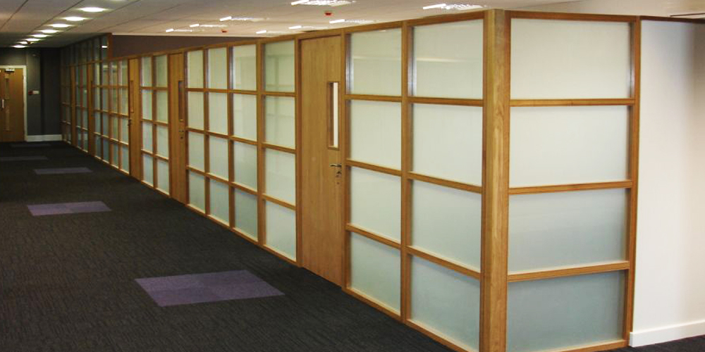 Frosted Glass Office Panels
