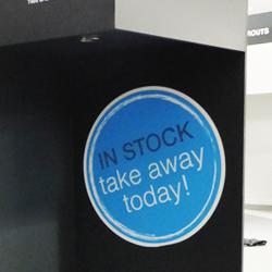 In stock Retail Sticker