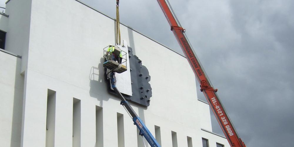 Installation of Court Crest