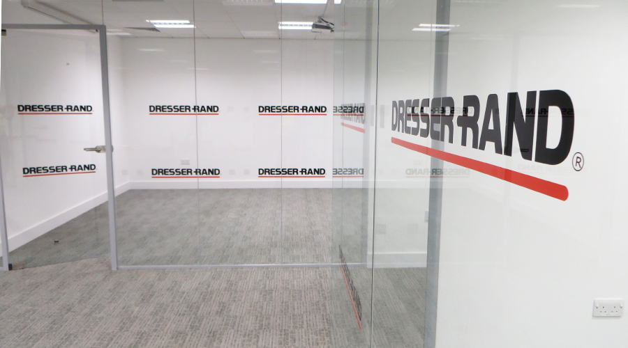 Logos applied to Office Glass