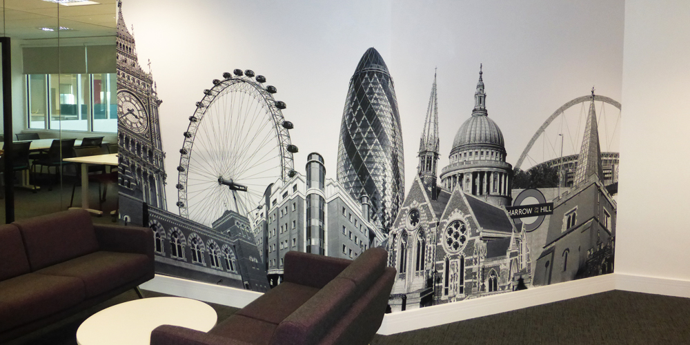 London Montage Wall Mural