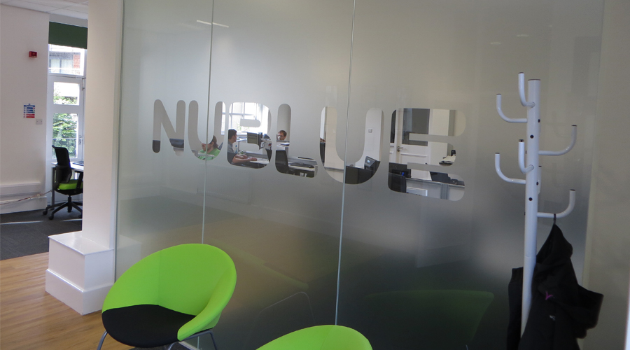 Nublue Glass Office Partition Frosting