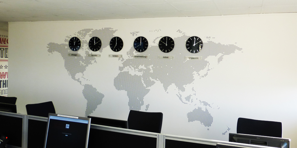 Office Wall map