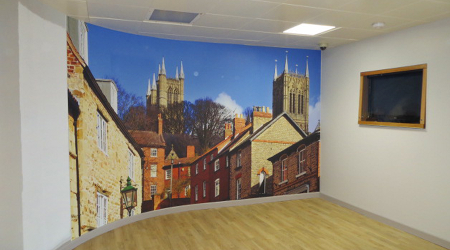 Peter Hodgekinson Hospital Wall Paper Print