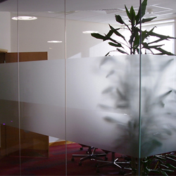 Plain Frosted glass window