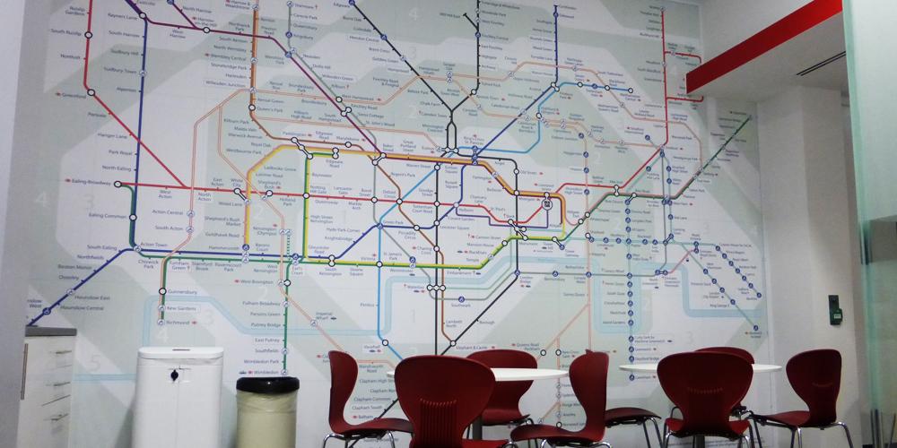 Underground Map Wall Mural