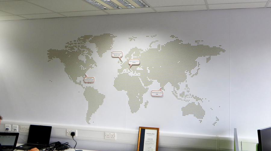 Wall Paper Map