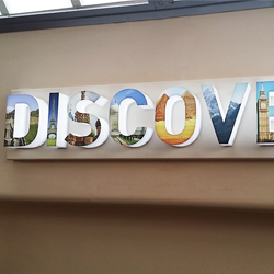 3D Lit up DISCOVER letters school display
