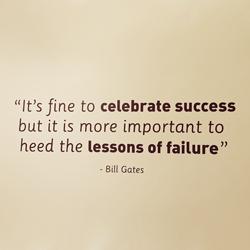 Bill Gates celebrate success school wall quote