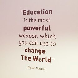 Education Is Nelson Mandela School Wall Quote
