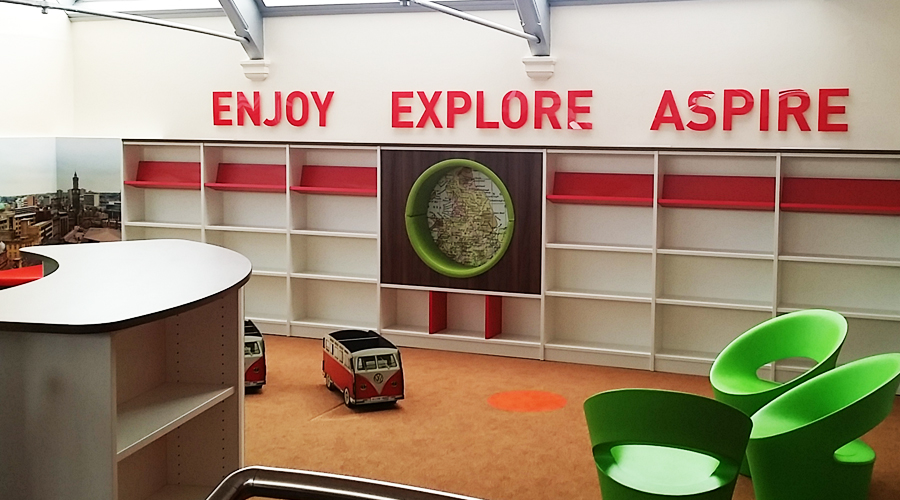Enjoy Explore Aspire School Library Wall Letters