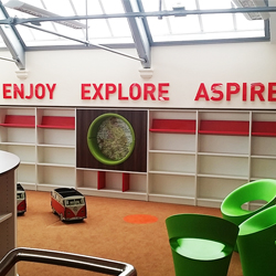 Enjoy Explore Aspire School Library Wall Letters