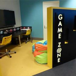 Game Area Pacman wall graphics school