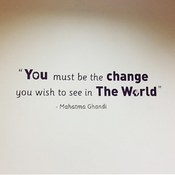 Ghandi wall quote school