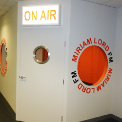 School Radio Booth Lettering