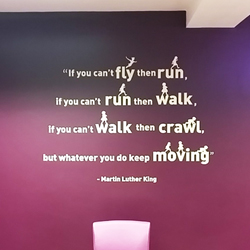 Martin Luther King If you cant fly school wall quote