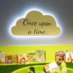 Once Upon A Time nursery cloud display with LED Lighting