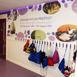 Purple Cloak Room Wall Mural and LEDs