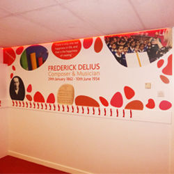 Red Cloak Room Wall Mural and LEDs