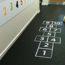 Interior Hopscotch floor sticker